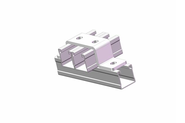 双拼槽钢水平连接件