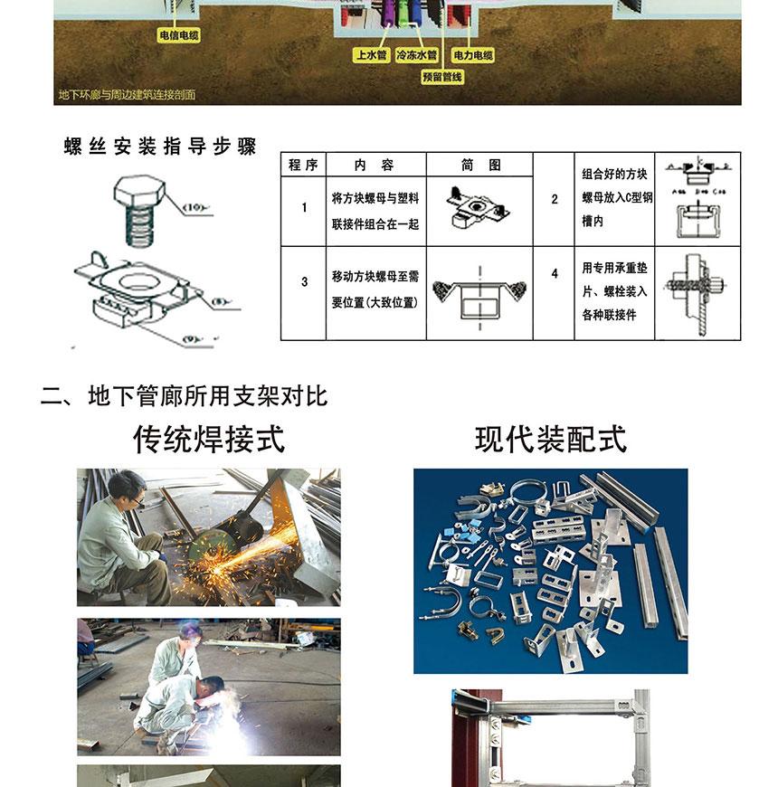 装配式地下管廊综合管线支撑系统